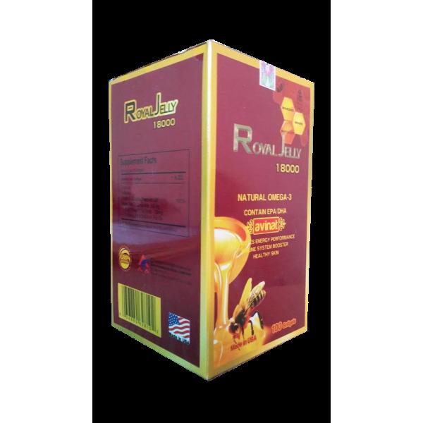 Thực phẩm chức năng Sữa ong chúa Royal Jelly 18000mg – 100 viên – Mỹ