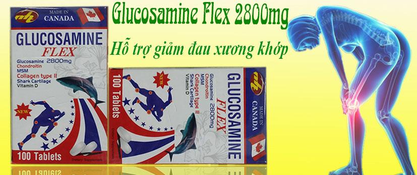Glucosamine flex 2800mg giảm đau xương khớp