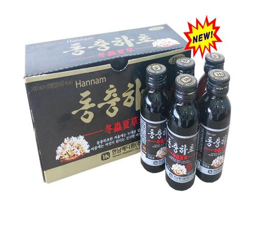 Nước uống Đông trùng hạ thảo Hàn Quốc mỗi hộp gồm 4 chai nhỏ