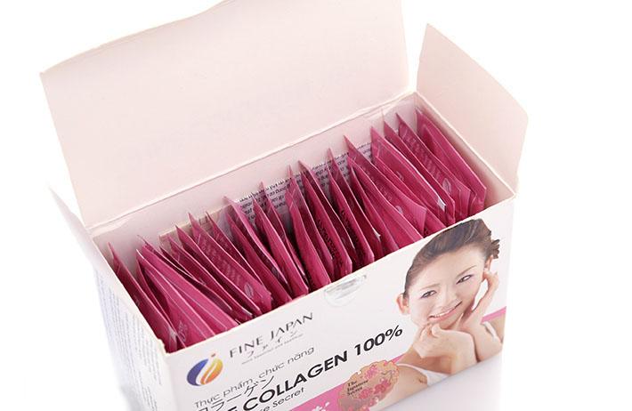 Một hộp gồm 30 gối Fine Collagen 100%